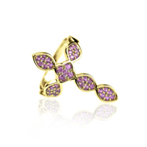 Cross ring Saphire