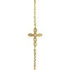 Bracelet Coix or jaune diamants