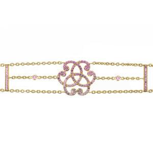 Bracelet monogramme Saphire Violet
