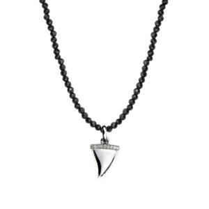 collier_perles-noires_dent_requin_argent